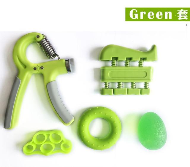 5 Pieces Adjustable Hand Grip Forearm Trainer Set Gym Urban Pronto Green