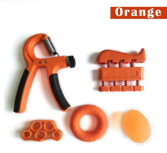 5 Pieces Adjustable Hand Grip Forearm Trainer Set Gym Urban Pronto Orange