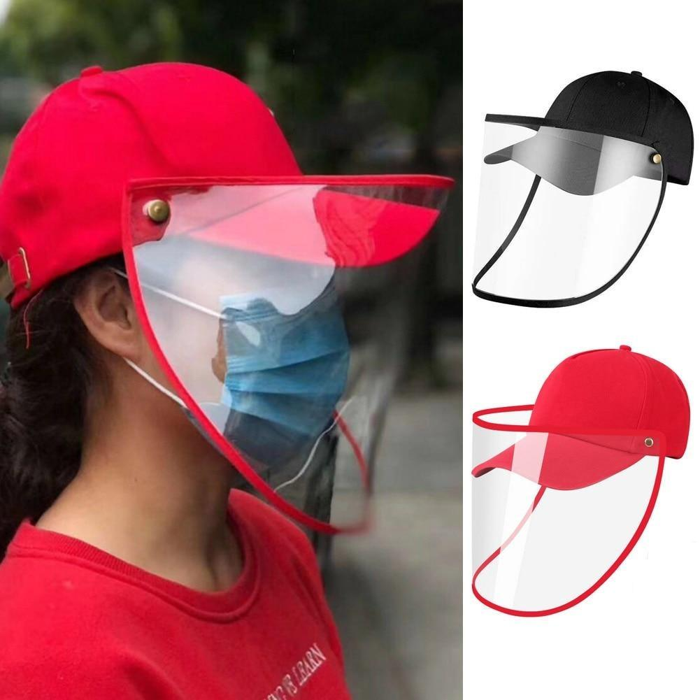Baseball Cap Clear Anti Saliva Splash, Dust proof Full Face Protective Shield Hat