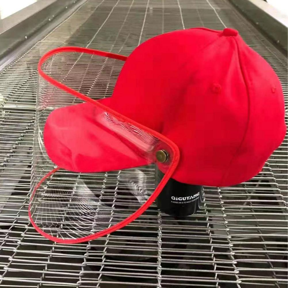 Baseball Cap Clear Anti Saliva Splash, Dust proof Full Face Protective Shield Hat Urban Pronto