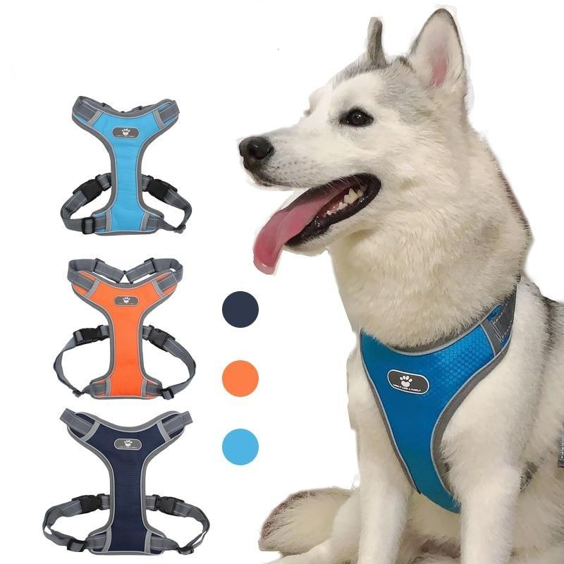 Reflective Breathable Mesh Dog Harness Vest