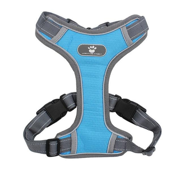 Reflective Breathable Mesh Dog Harness Vest Urban Pronto Blue S