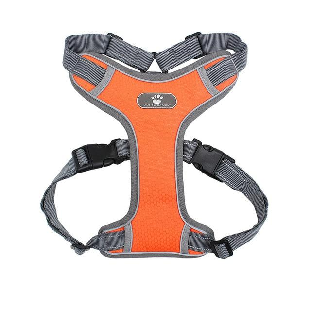 Reflective Breathable Mesh Dog Harness Vest Urban Pronto Orange L