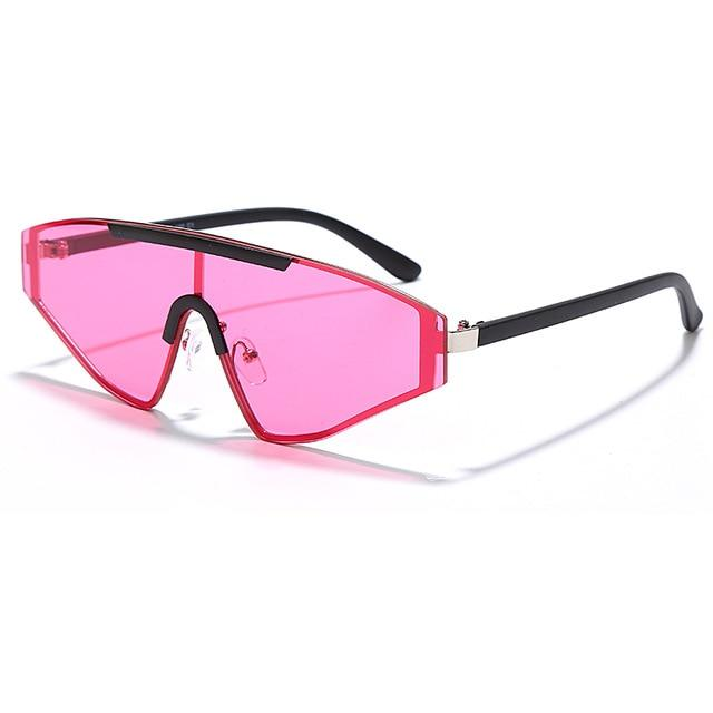 Rimless Rectangle Fashion 90's Sunglasses Urban Pronto Pink United States