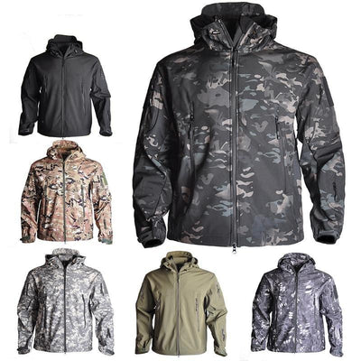 Men's Camouflage Waterproof Soft-shell Military Tactical Jacket