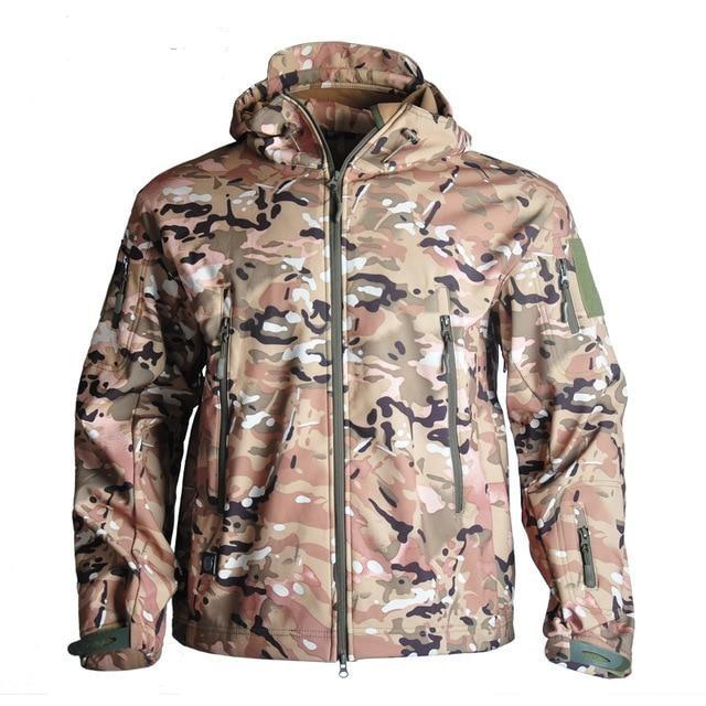 Men's Camouflage Waterproof Soft-shell Military Tactical Jacket Urban Pronto CP 4XL