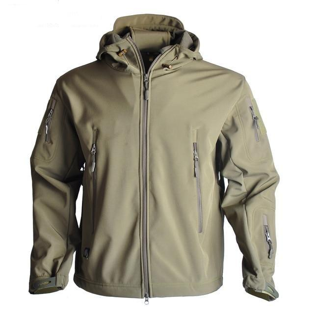 Men's Camouflage Waterproof Soft-shell Military Tactical Jacket Urban Pronto Army green XXXL