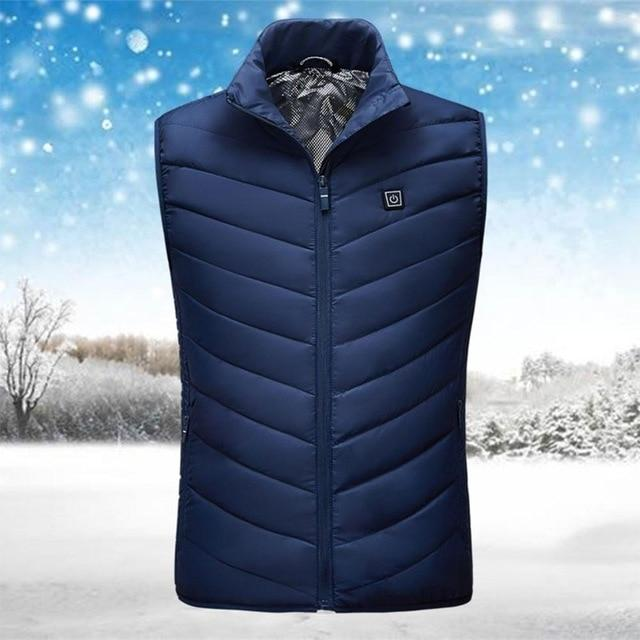 Unisex USB Heated Jacket Vest Urban Pronto Blue 4XL