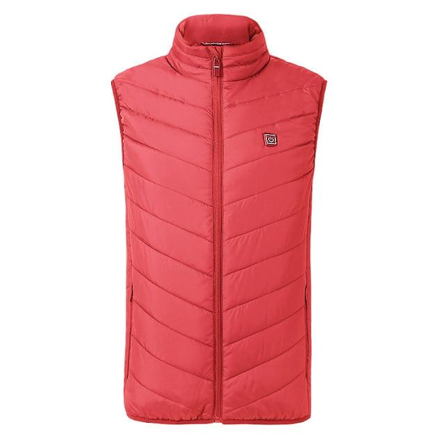 Unisex USB Heated Jacket Vest Urban Pronto Red XXXL
