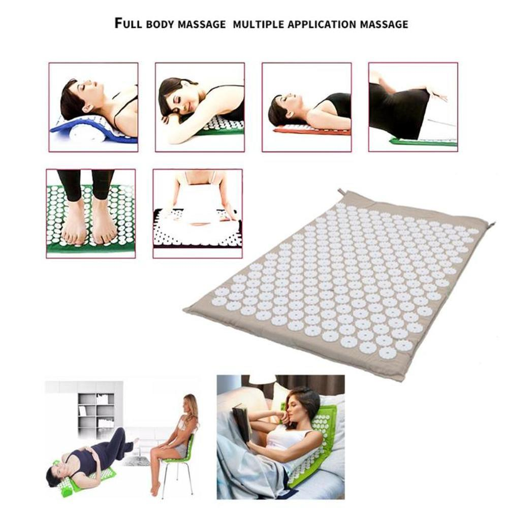 Acupressure Yoga Mat with Pillow For Help Relieving Stress, Fatigue, Chronic Pains, Insomnia, and Weight Loss. Urban Pronto