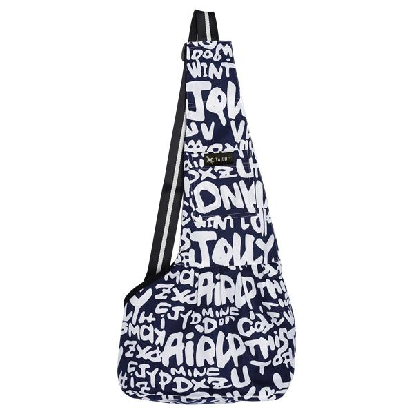 Dog Sling Mesh Bag Pet Accessories UrbanPronto blue letter S