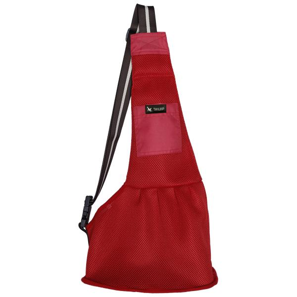 Dog Sling Mesh Bag Pet Accessories UrbanPronto mesh red S