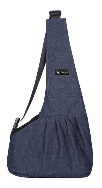 Dog Sling Mesh Bag Pet Accessories UrbanPronto denim blue S