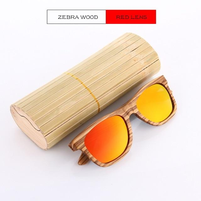 Bamboo Wooden Polarized Sunglasses Urban Pronto ZW Red