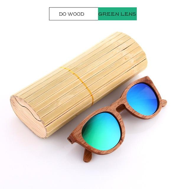Bamboo Wooden Polarized Sunglasses Urban Pronto DW Green