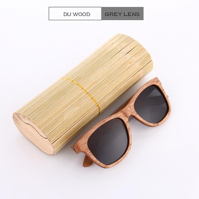 Bamboo Wooden Polarized Sunglasses Urban Pronto DU Grey