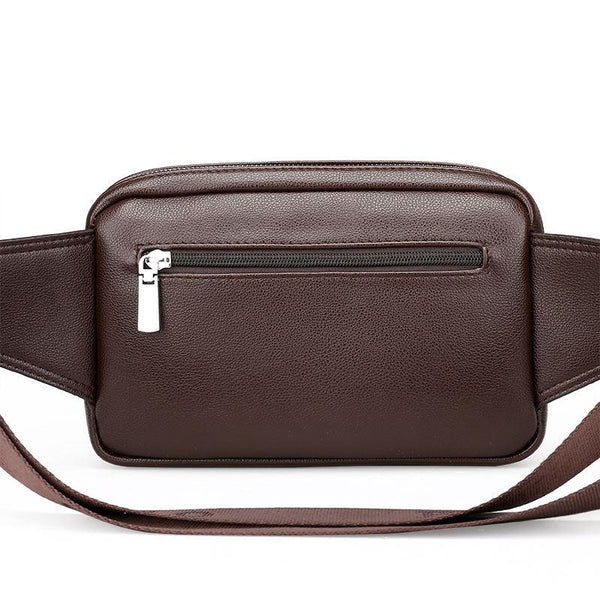 Vintage Men's Leather Waist Bag Fanny Pack Urban Pronto Brown