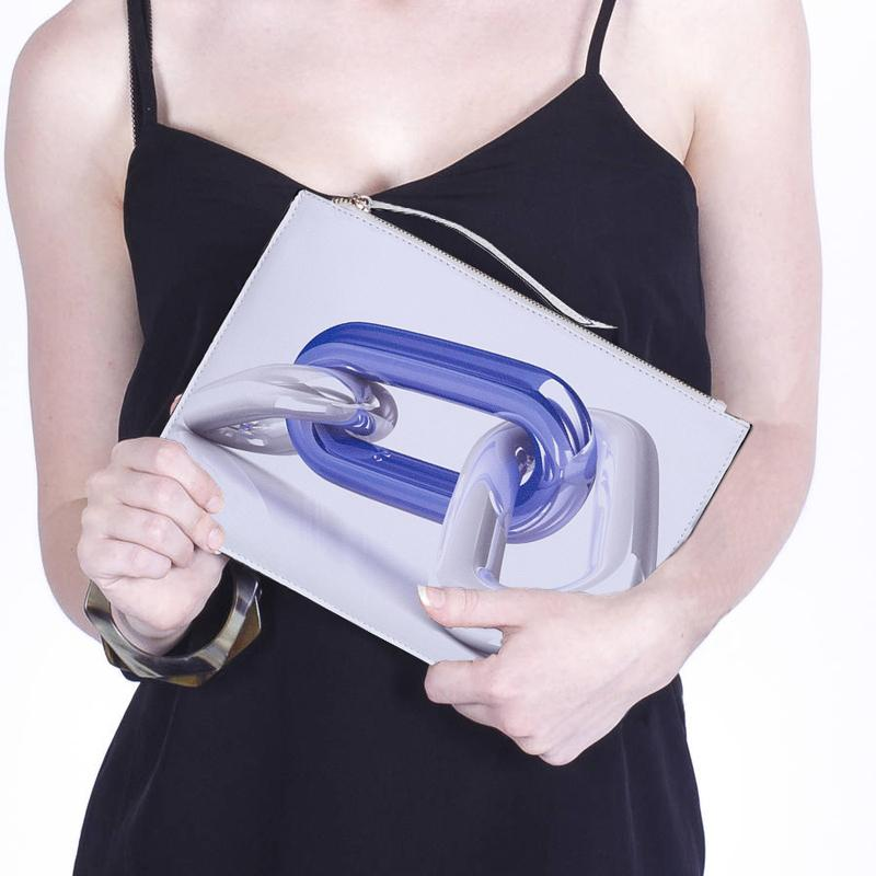 3D Chain Printed Clutch Urban Pronto