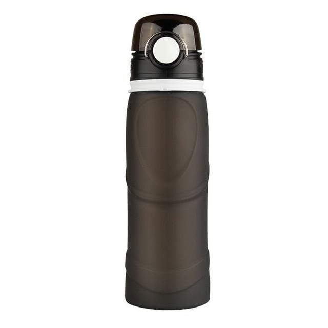 Collapsible Silicone Water Bottle Urban Pronto 0.75L Black
