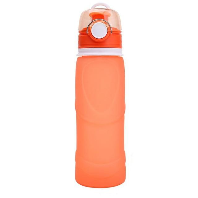 Collapsible Silicone Water Bottle Urban Pronto 0.75L Rose red