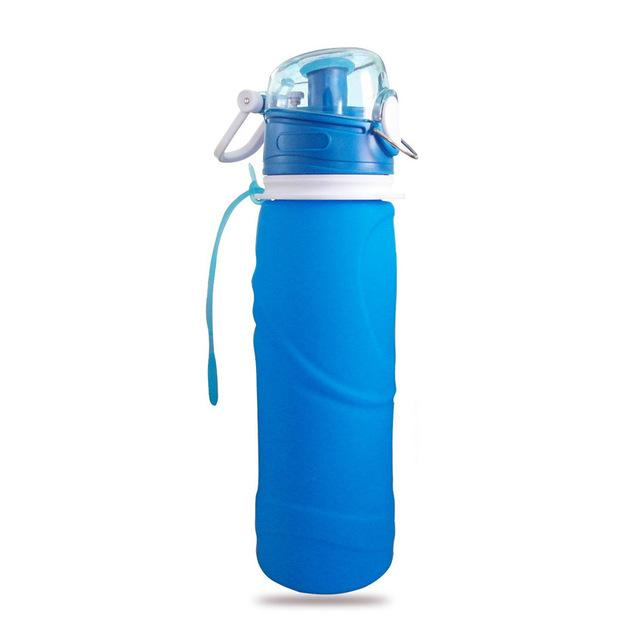 Collapsible Silicone Water Bottle Urban Pronto 0.75L Sky Blue