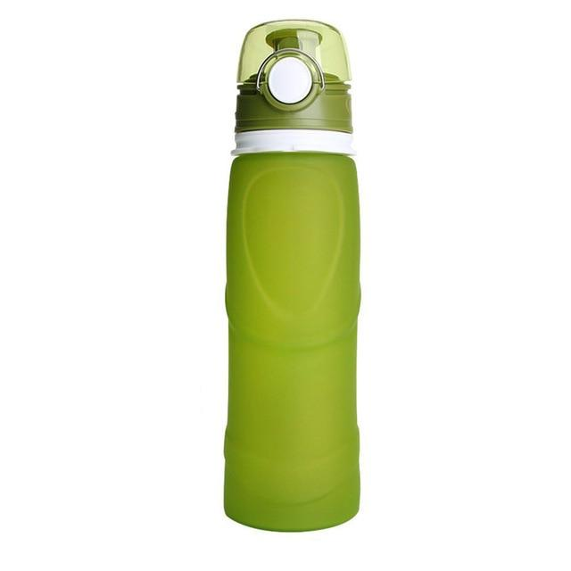 Collapsible Silicone Water Bottle Urban Pronto 0.75L Light Green