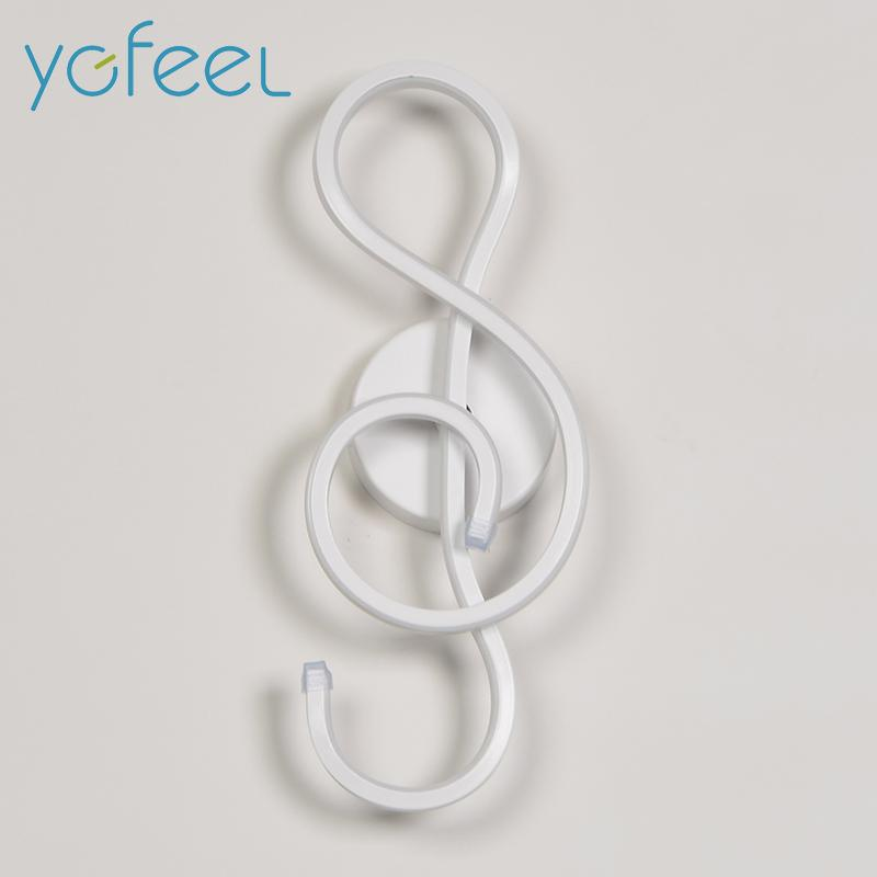Treble Clef Wall Lamp Urban Pronto White Cool White(5500-7000K)