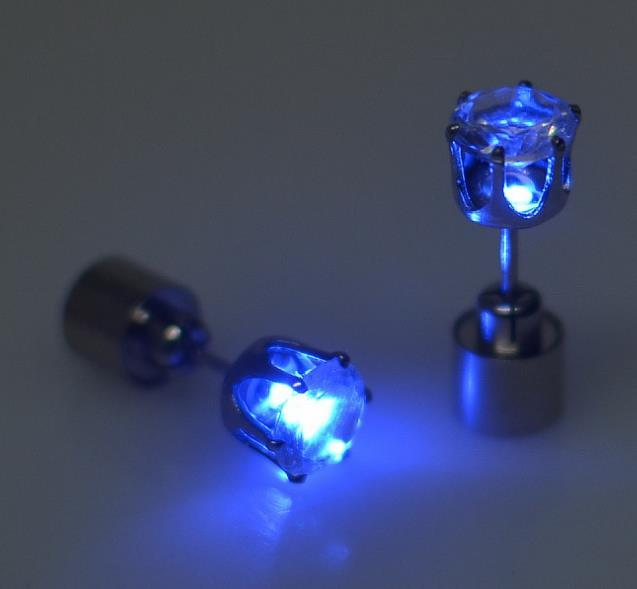 Glow in the dark Charm Light Up LED Stud Earring Urban Pronto Blue