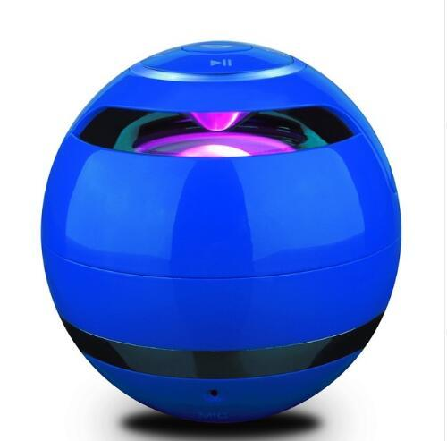 LED Bluetooth Wireless HandsFree Speaker with Mini Subwoofer Urban Pronto United States Blue Speaker