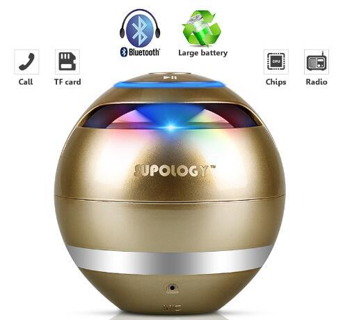 LED Bluetooth Wireless HandsFree Speaker with Mini Subwoofer Urban Pronto United States Gold Speaker