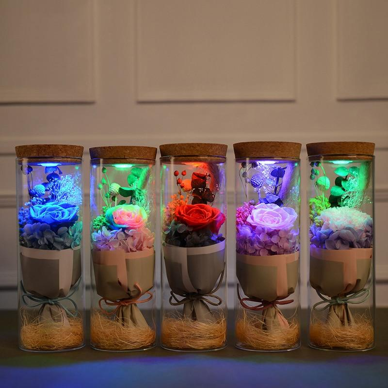 Glowing Preserved Rose Glass with Remote Control Urban Pronto