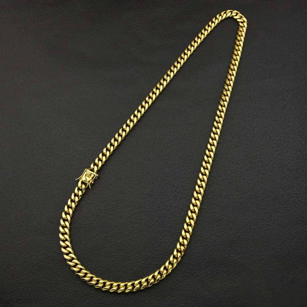 Stainless Steel Curb Chain Necklace- plated gold Urban Pronto