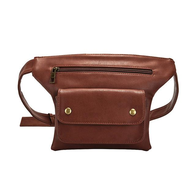 Leather Waist Bag Urban Pronto coffee