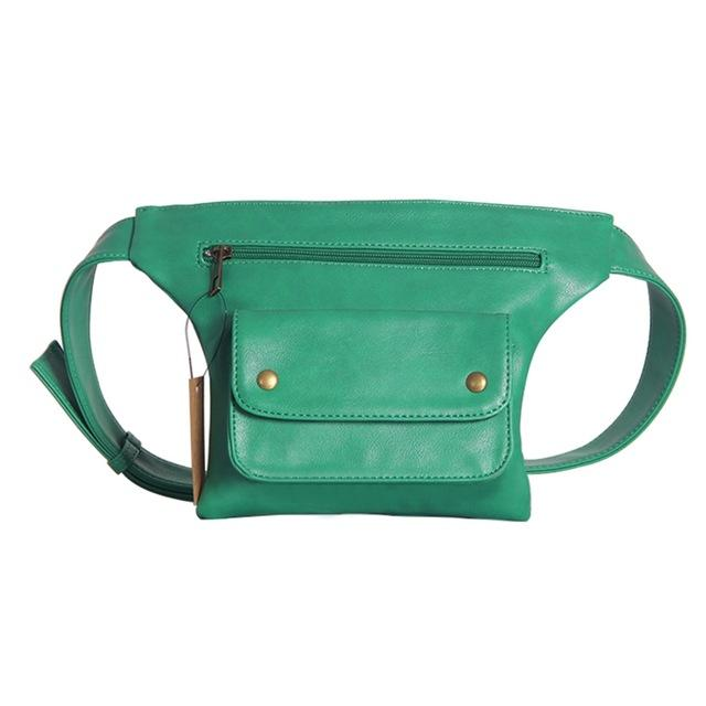 Leather Waist Bag Urban Pronto Green