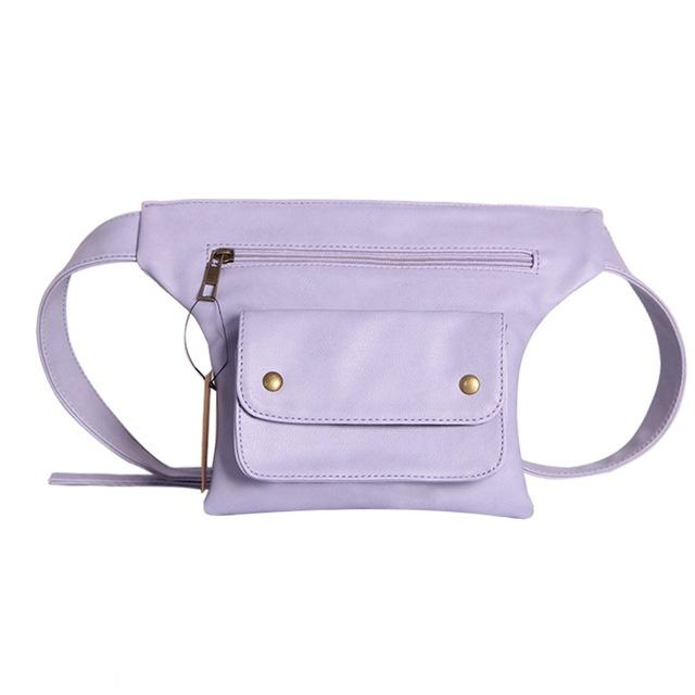 Leather Waist Bag Urban Pronto Purple