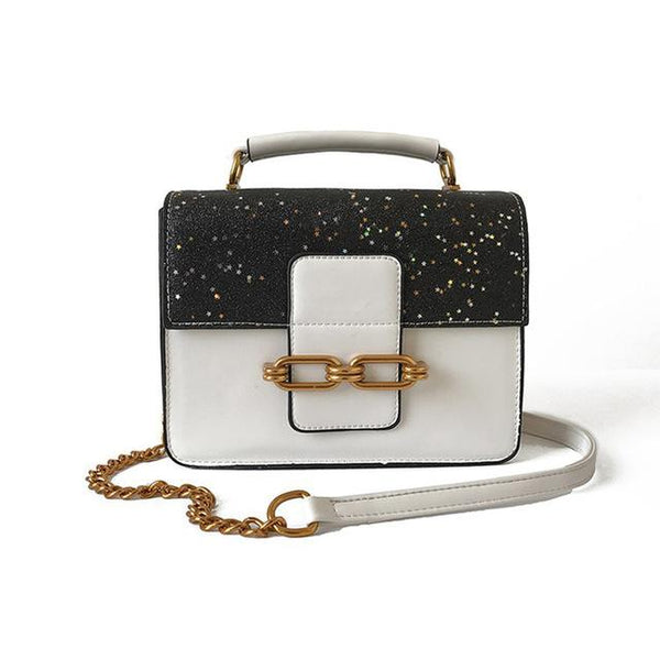 Women's Sequin Crossbody Purse Handbag Urban Pronto White