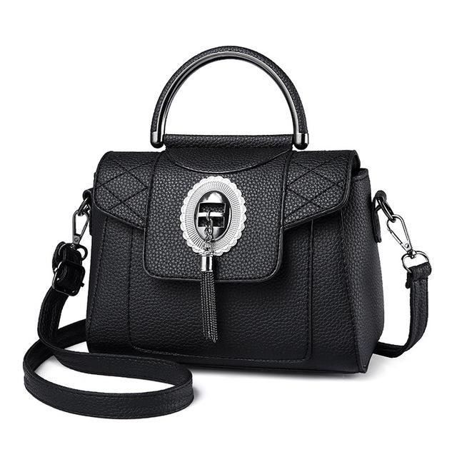 Women's PU Leather Handbag Urban Pronto Black