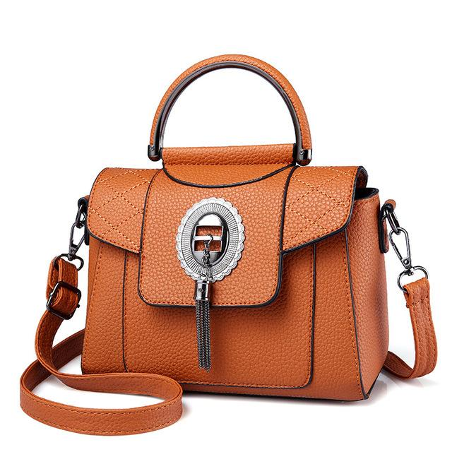 Women's PU Leather Handbag Urban Pronto Brown