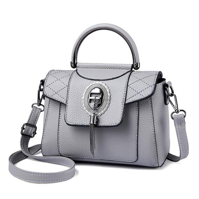Women's PU Leather Handbag Urban Pronto Gray