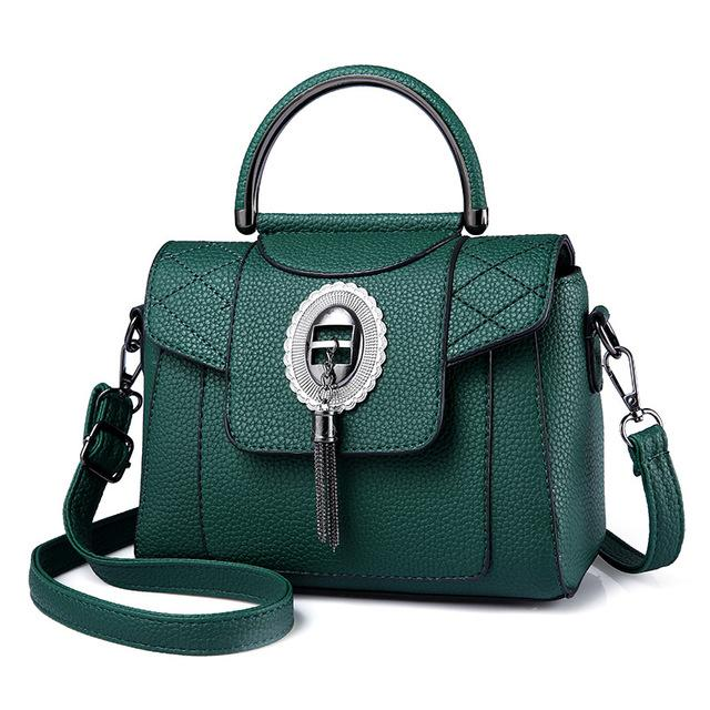 Women's PU Leather Handbag Urban Pronto Green