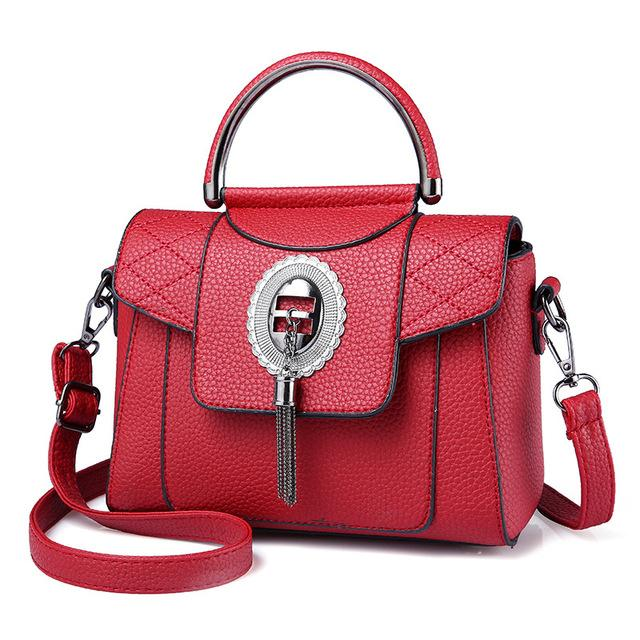 Women's PU Leather Handbag Urban Pronto Red