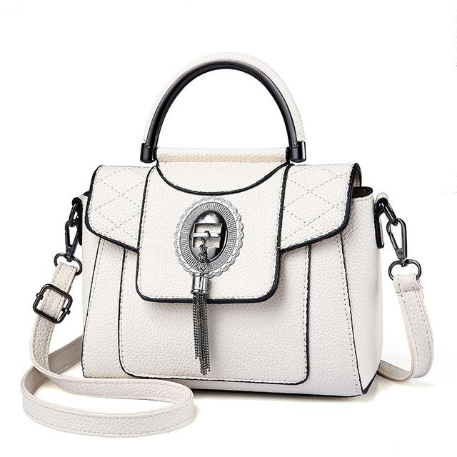 Women's PU Leather Handbag Urban Pronto White