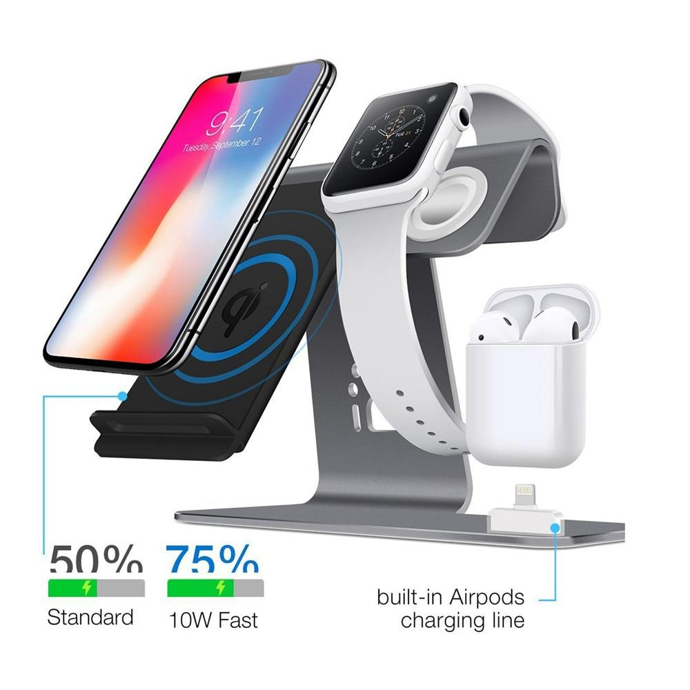 QI Wireless Charger Docking Station For iPhone, Apple Watch And Airpods Urban Pronto