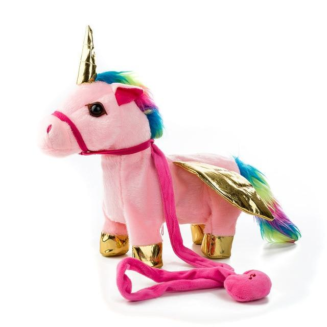 Walking Unicorn Toy Urban Pronto 35x30x10cm gold