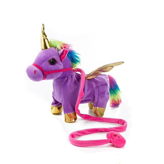 Walking Unicorn Toy Urban Pronto 35x30x10cm deep purple