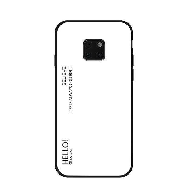 Glass Phone Case For Huawei Mate 20 And Mate 20 Pro Urban Pronto White For Mate 20