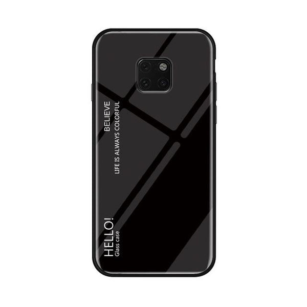 Glass Phone Case For Huawei Mate 20 And Mate 20 Pro Urban Pronto Black For Mate 20