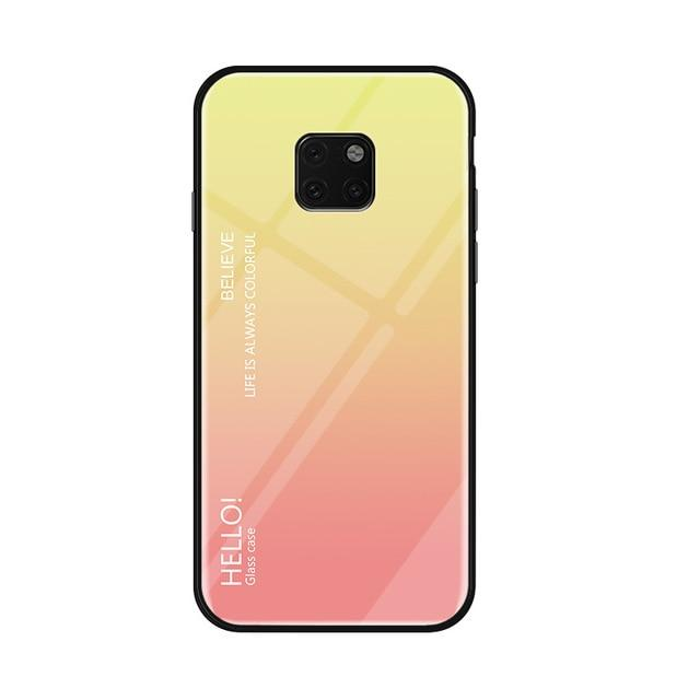 Glass Phone Case For Huawei Mate 20 And Mate 20 Pro Urban Pronto Gold For Mate 20