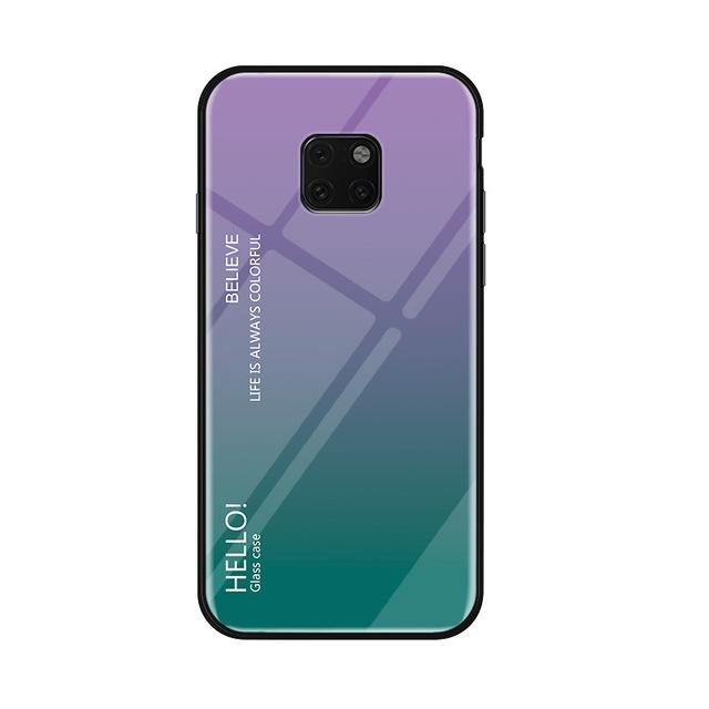 Glass Phone Case For Huawei Mate 20 And Mate 20 Pro Urban Pronto Purple For Mate 20