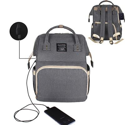 Mummy Bag Urban Pronto Grey with USB